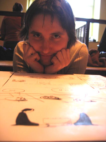 Сания Мамлеева - го-манга на конверте. Фото Алексея Кожункова, Фестиваль Кубка Посла Японии, 2005 год